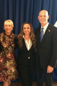 Alicia Valdes At 2015 Florida Gov. Rick Scott's inauguration speech